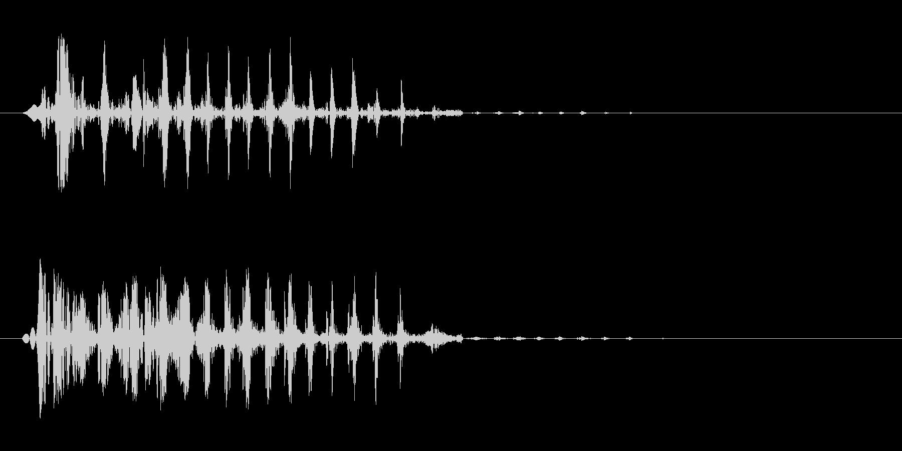 ブエッ(短い音)鈍いの未再生の波形