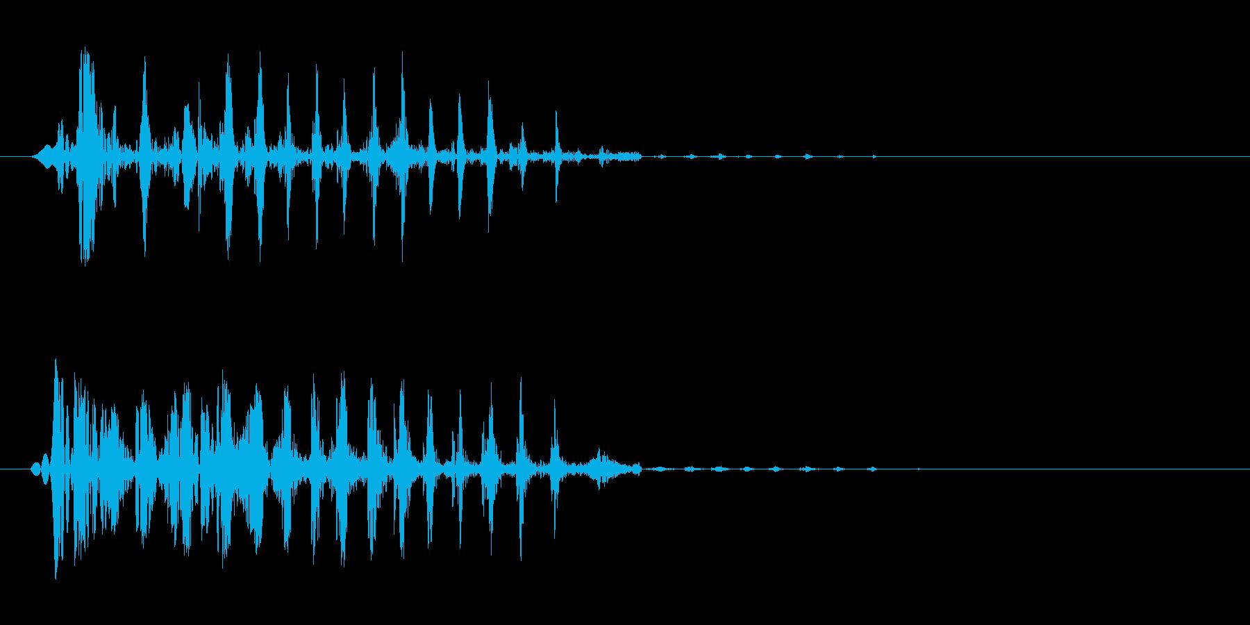 ブエッ(短い音)鈍いの再生済みの波形