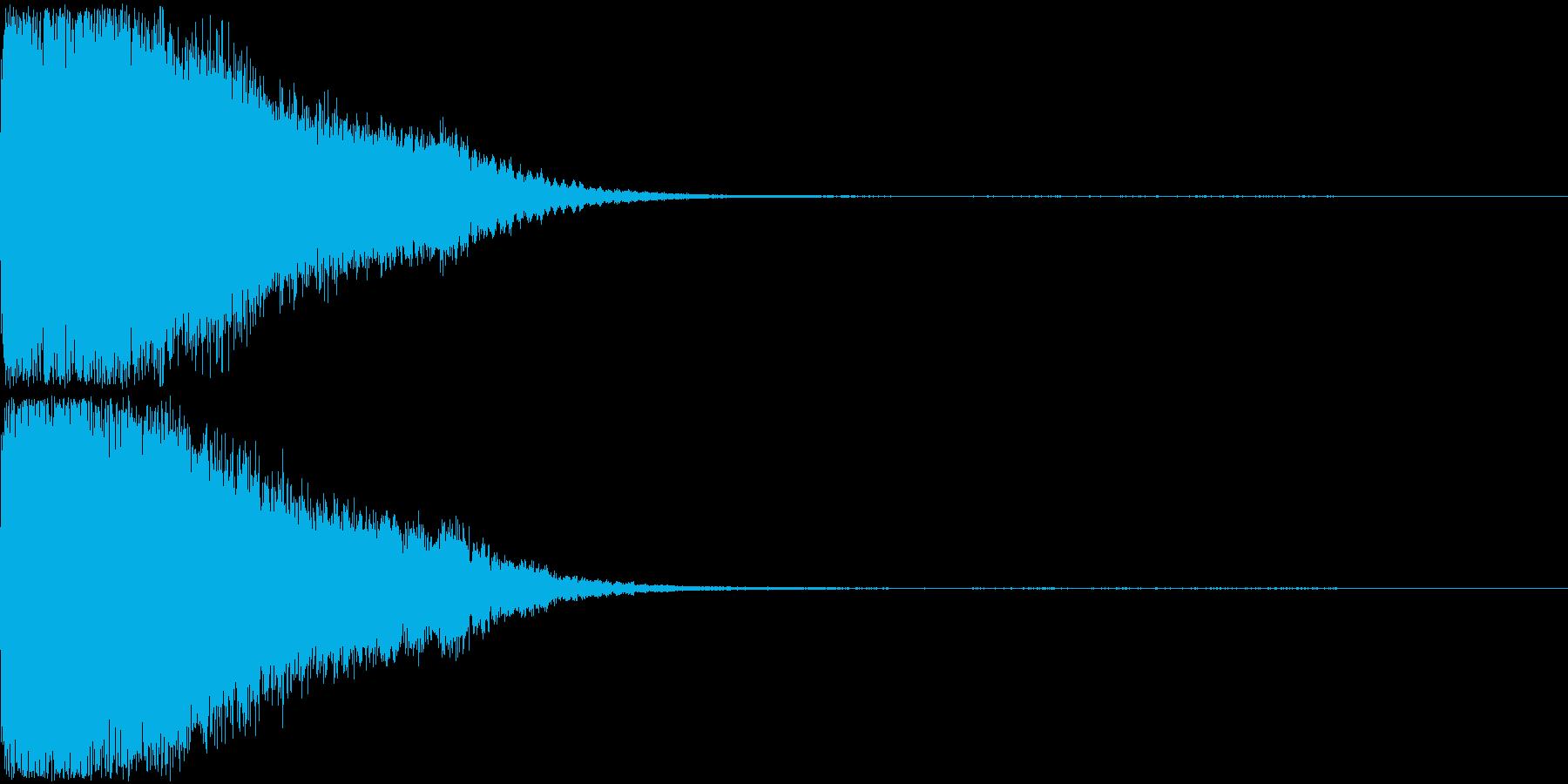 刀 剣 ソード カキーン キュイーン03の再生済みの波形