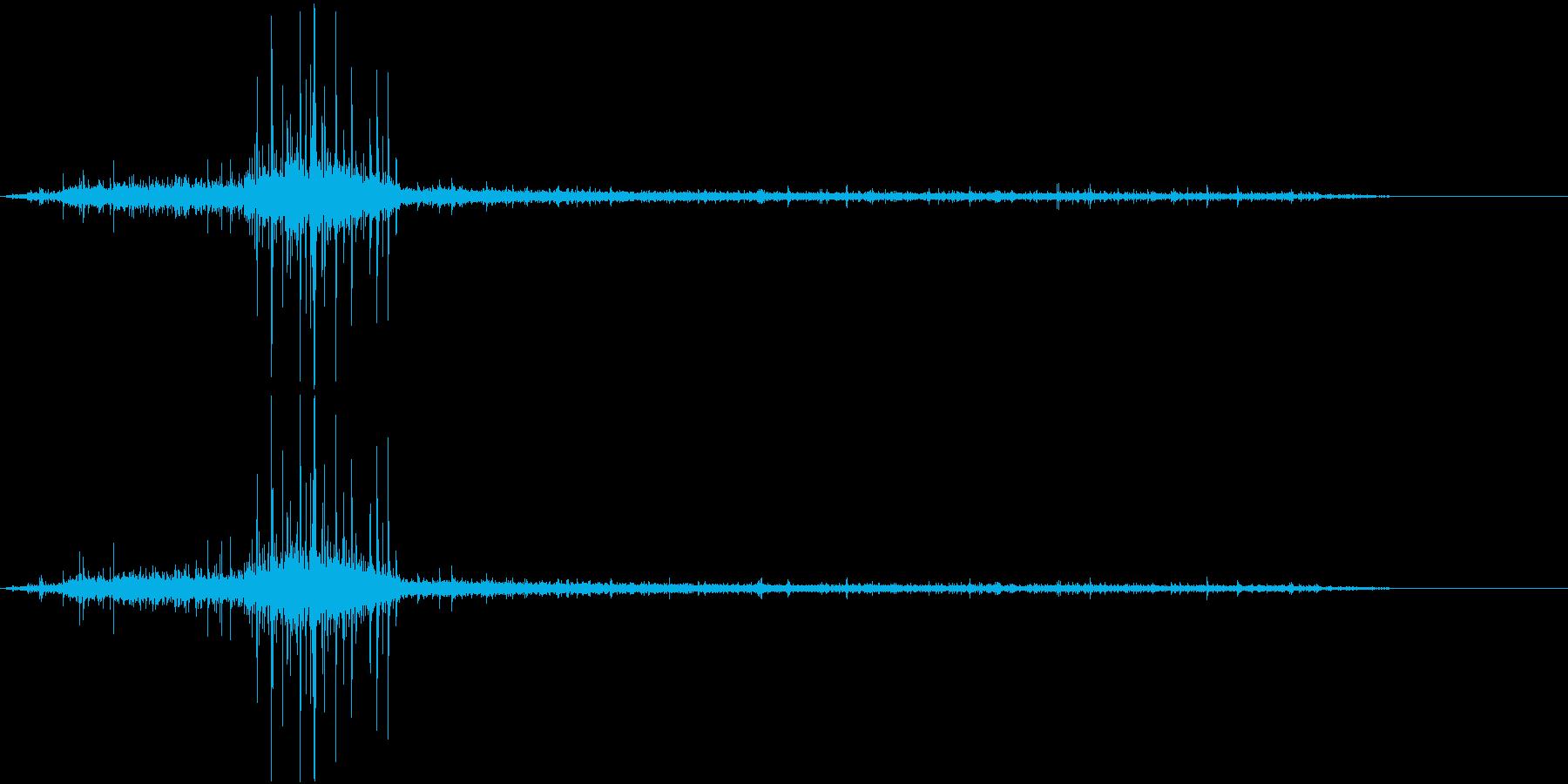 ジュー☆餃子を焼く音の再生済みの波形