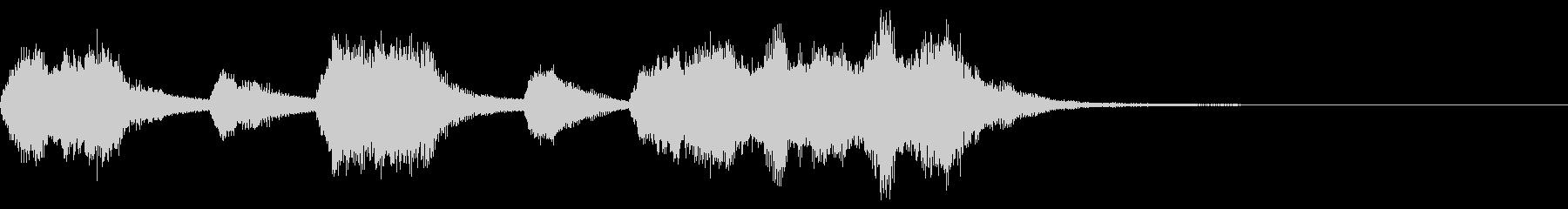 オーケストラによる優雅なジングルの未再生の波形
