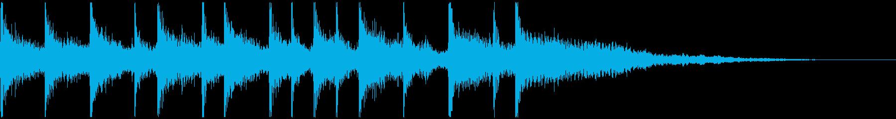 親しみやすいメロディのジングルの再生済みの波形