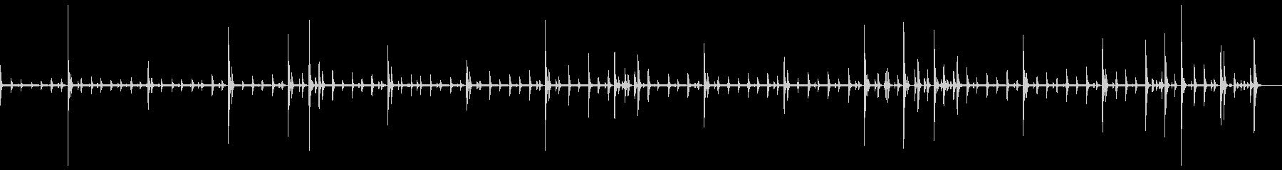 ドラム:ジャズリズム:スネアのブラシの未再生の波形