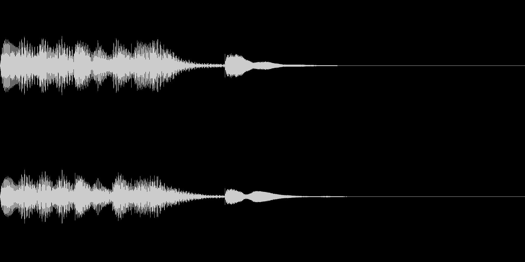 マリンバの短いジングル1の未再生の波形