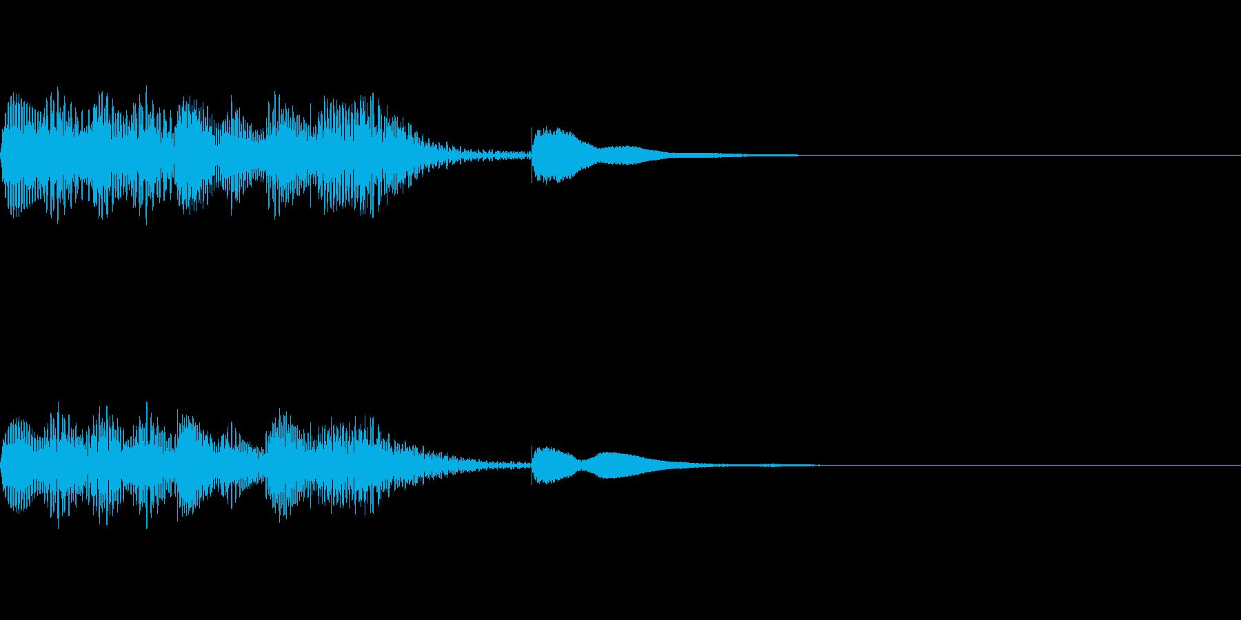 マリンバの短いジングル1の再生済みの波形