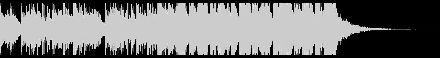 8小節のおしゃれ軽快ビートの未再生の波形