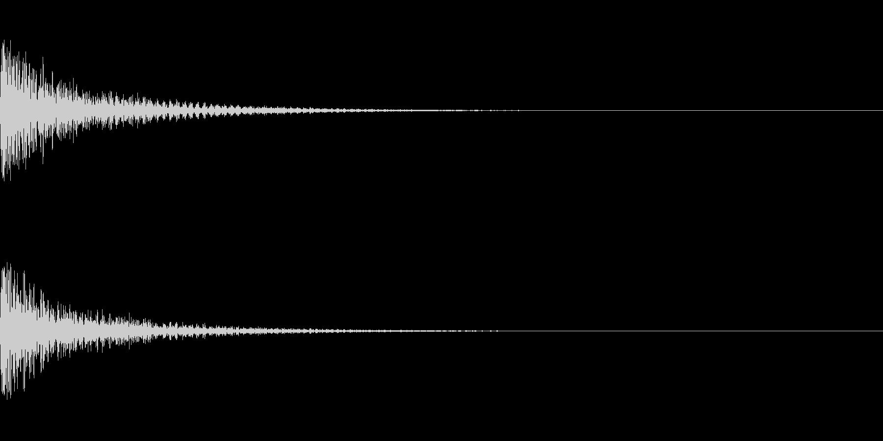 ミックス処理済みスネア(単発)03の未再生の波形