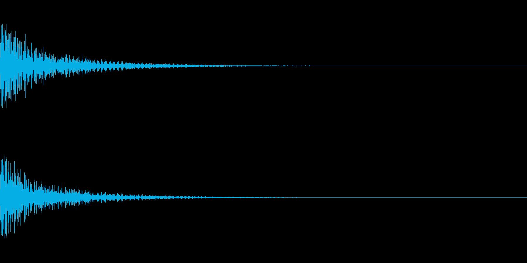 ミックス処理済みスネア(単発)03の再生済みの波形