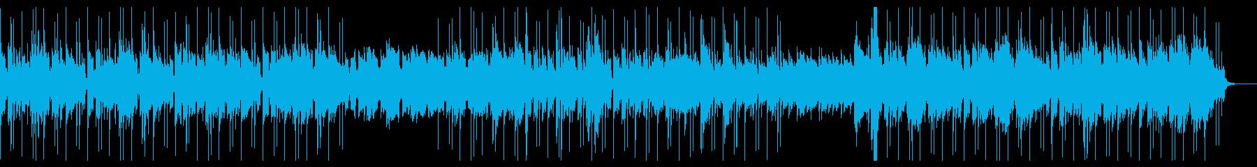 アコースティックギターのシティポップの再生済みの波形