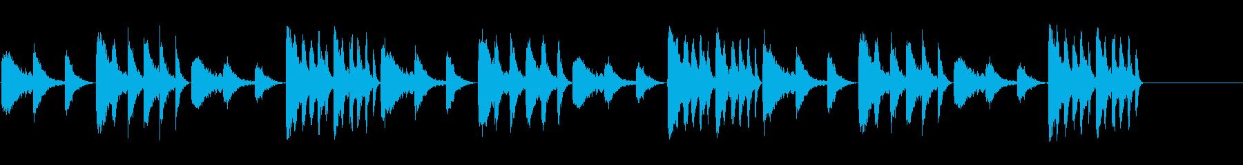インダストリアルシーンの背景にの再生済みの波形