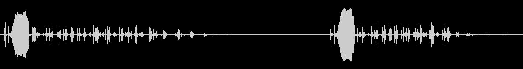 ピーヒョロロロと鳴く鳥の未再生の波形