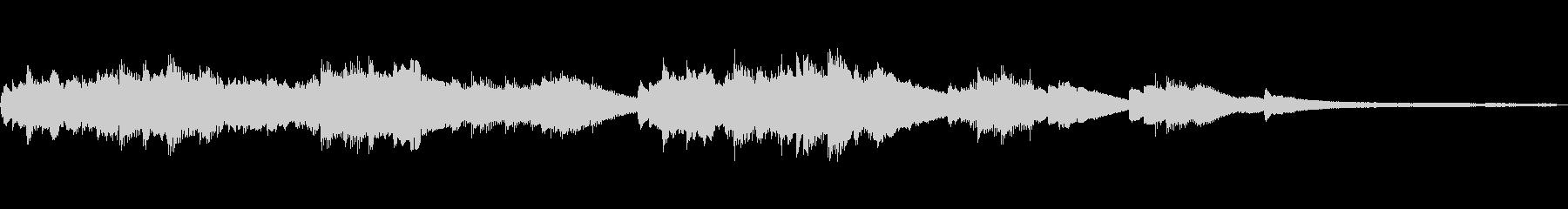 流れ落ちる和風ジングル48-ピアノソロの未再生の波形