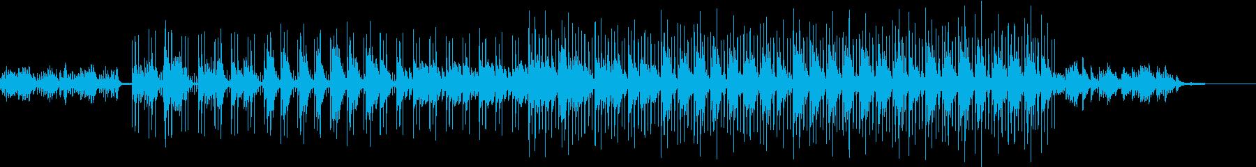 切ないピアノ旋律のエレクトロバラードの再生済みの波形