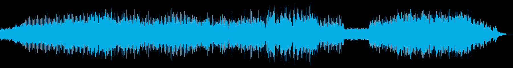 幕開けやタイトルに最適なテクノBGMの再生済みの波形