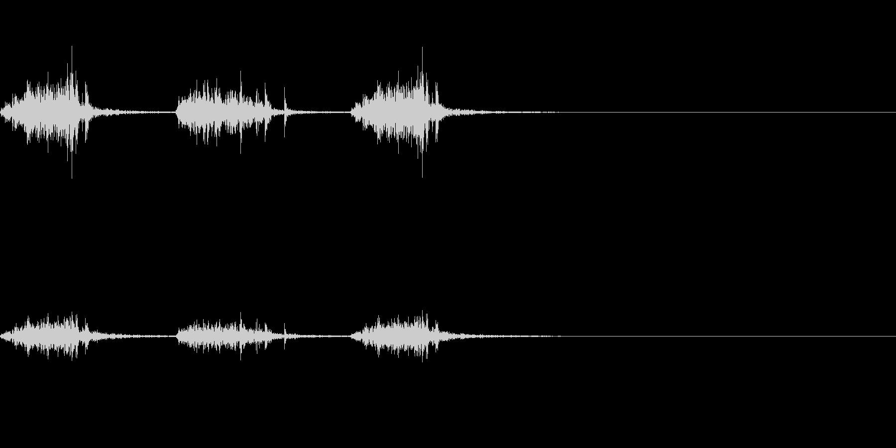 引っ掻く音~ガリガリガリ~の未再生の波形