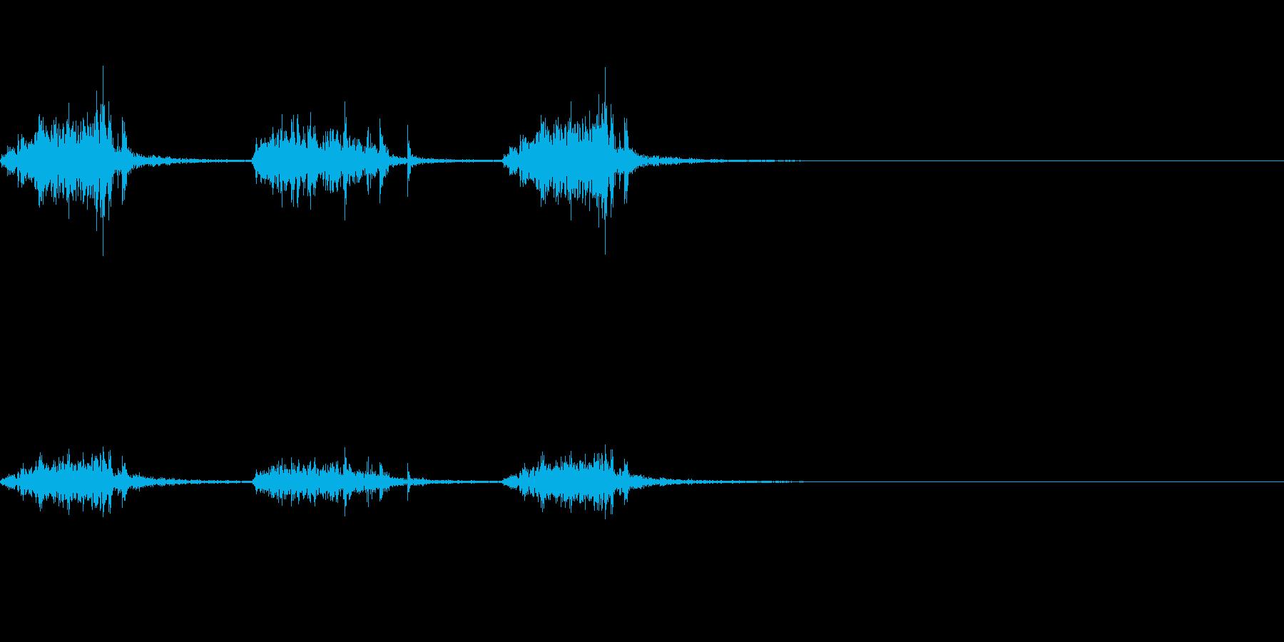 引っ掻く音~ガリガリガリ~の再生済みの波形