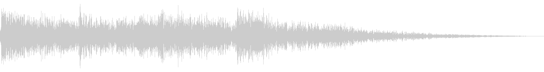 ハープの場面転換 CMイン サウンドロゴの未再生の波形