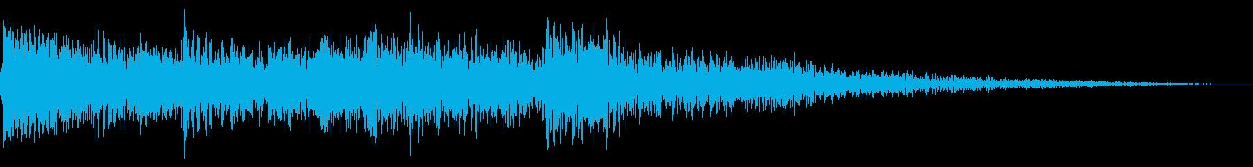 ハープの場面転換 CMイン サウンドロゴの再生済みの波形