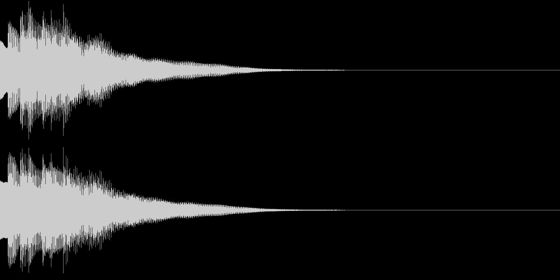不思議な感じのジングル 場面転換 2の未再生の波形