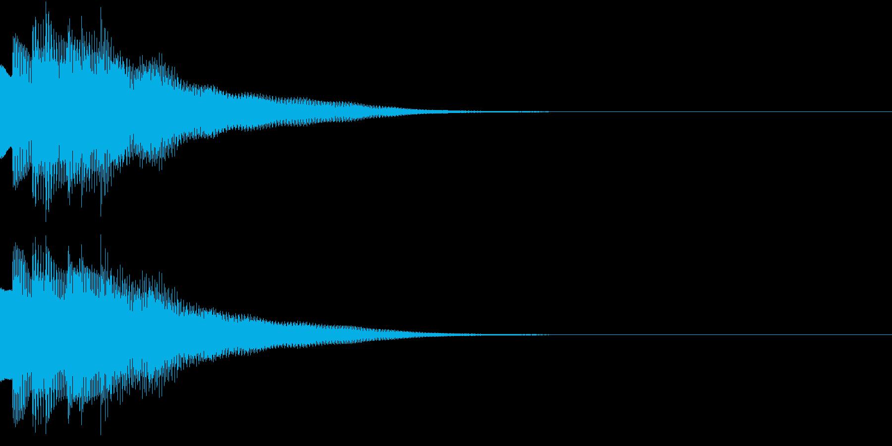 不思議な感じのジングル 場面転換 2の再生済みの波形
