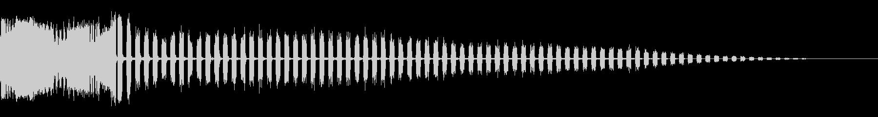 ビッグスパッタスタティックウィンドダウンの未再生の波形