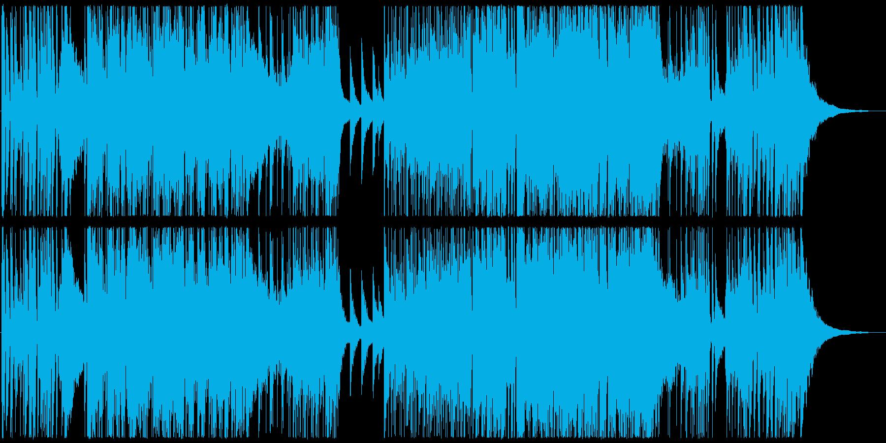 疾走感あるホーンやピアノのバンドサウンドの再生済みの波形