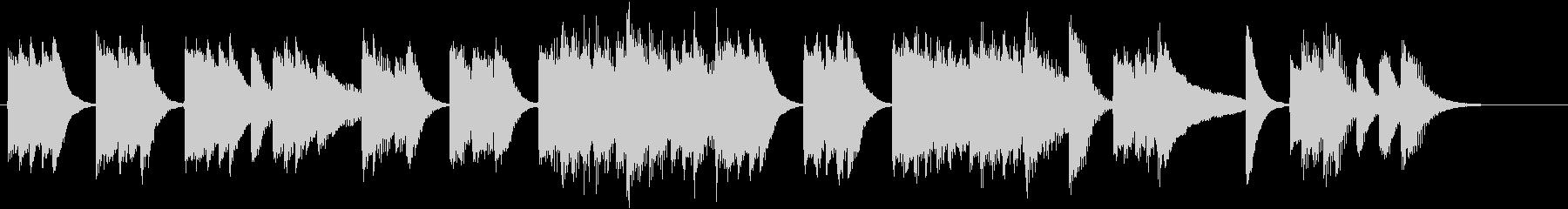 ユーモラスなメロディの軽快ピアノジングルの未再生の波形