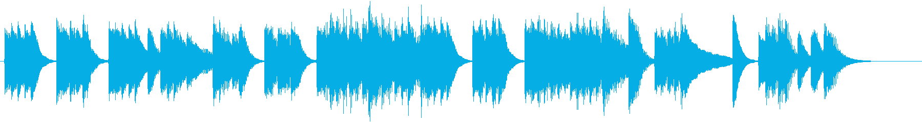 ユーモラスなメロディの軽快ピアノジングルの再生済みの波形
