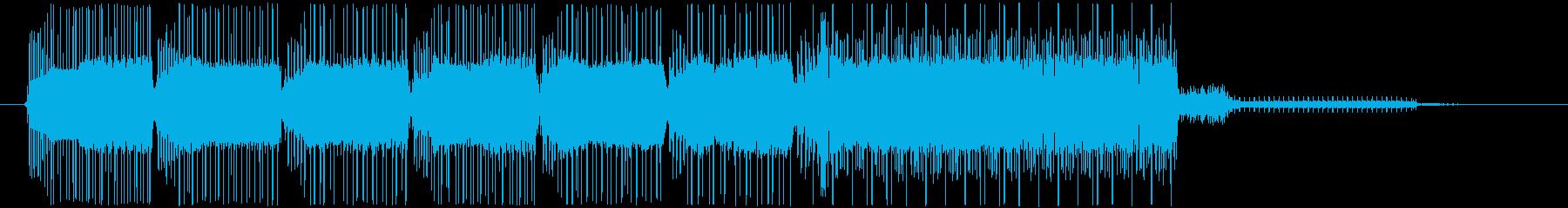 コミカルなレトロなゲームオーバーBGMの再生済みの波形