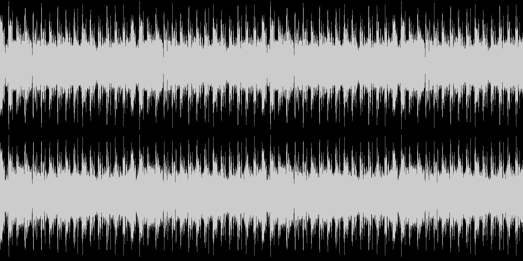 頭からノリノリのEDMの未再生の波形