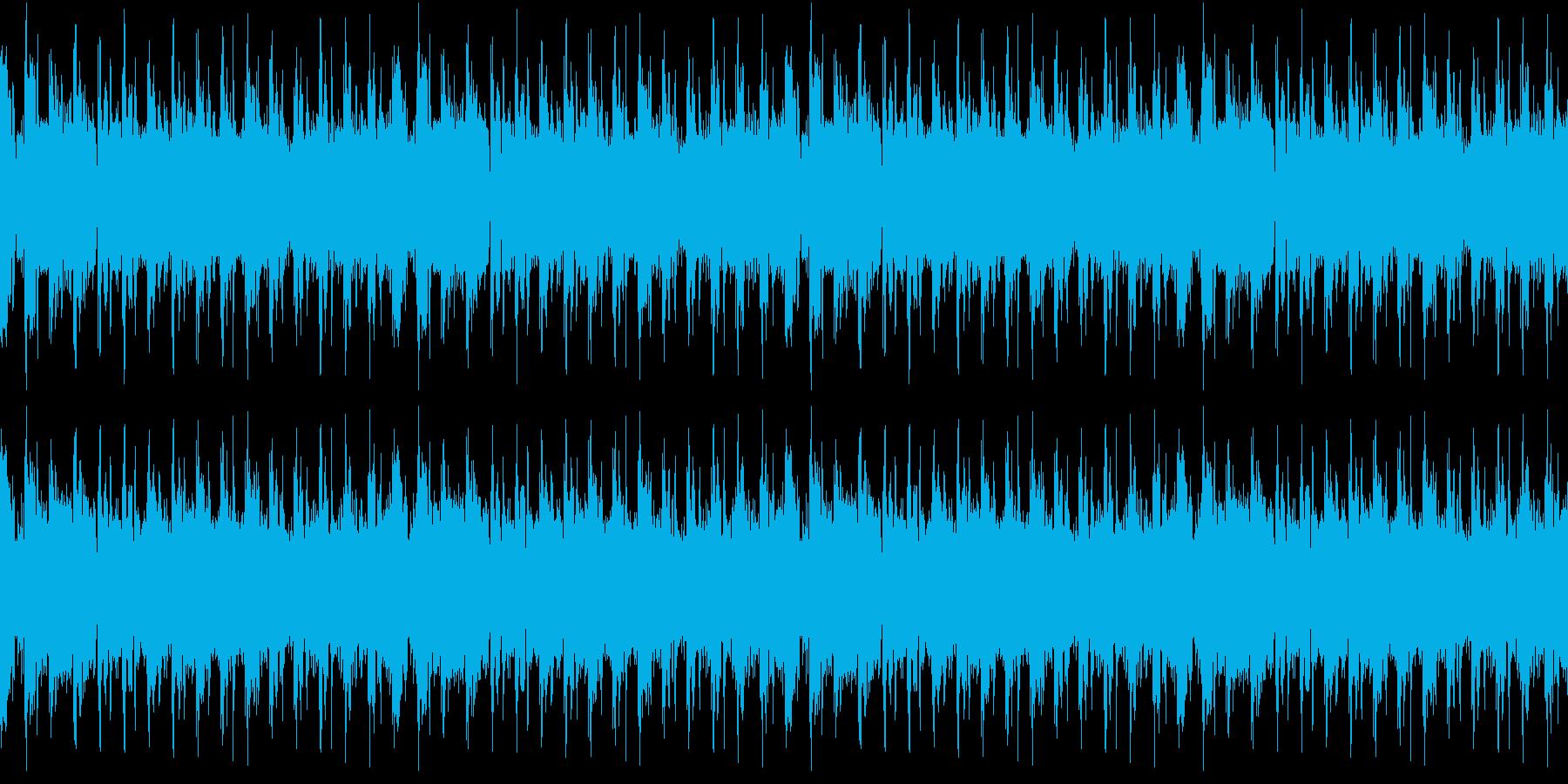 頭からノリノリのEDMの再生済みの波形