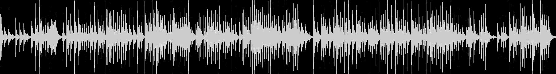 G線上のアリアのオルゴールアレンジの未再生の波形