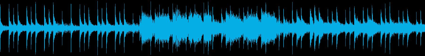 和楽器を使ったゆっくりなシリアス曲の再生済みの波形