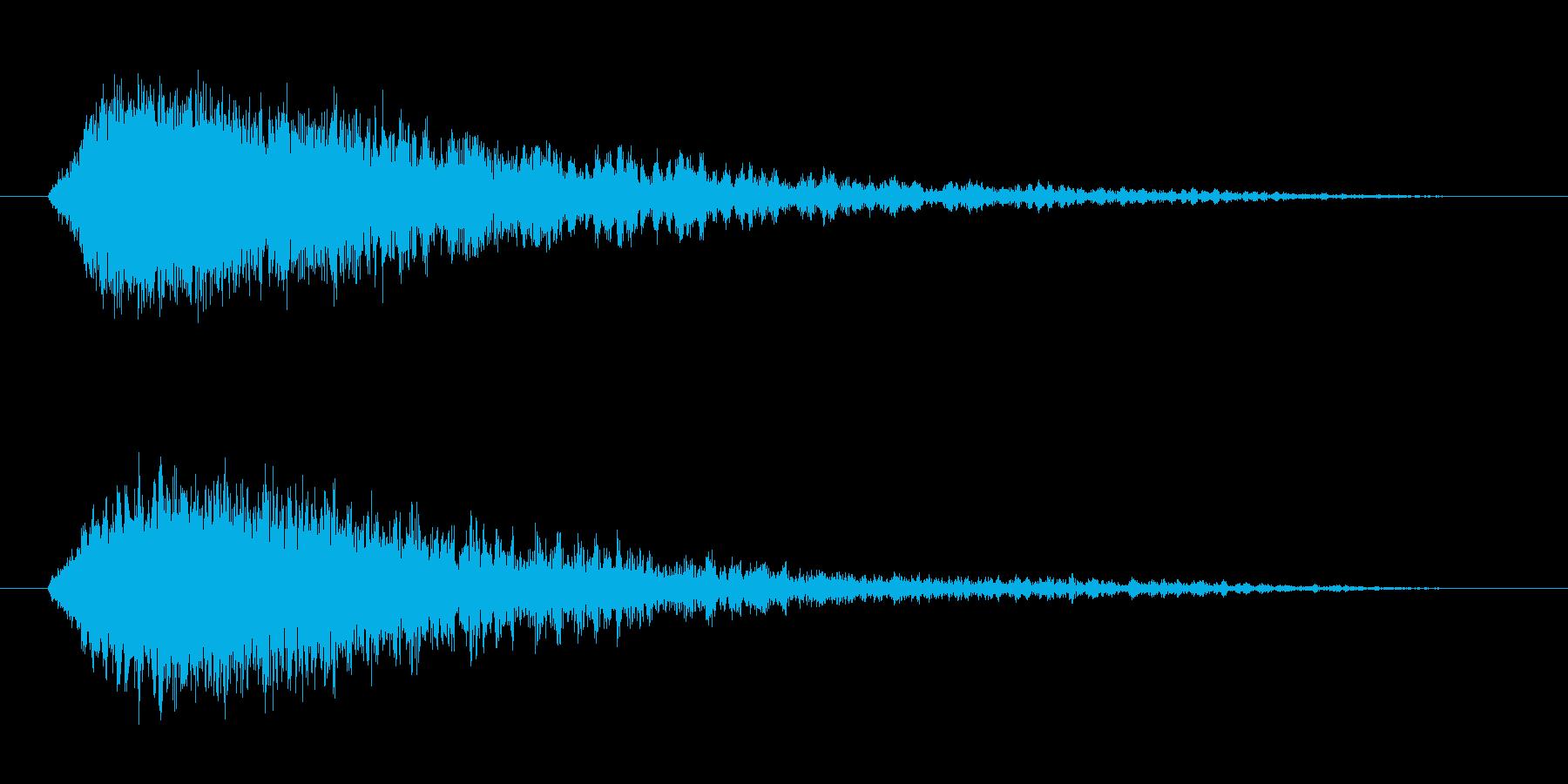 【効果音】怪談、心霊、オカルト用 02の再生済みの波形