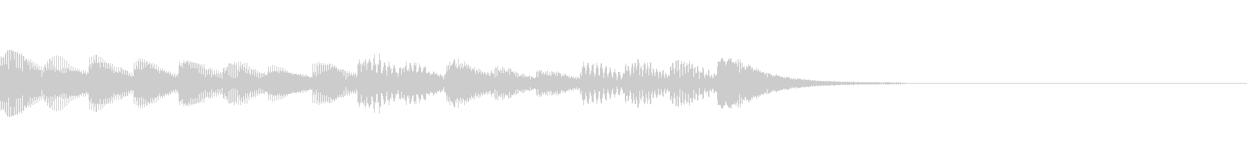 マリンバの音 ポップでかわいいジングルの未再生の波形