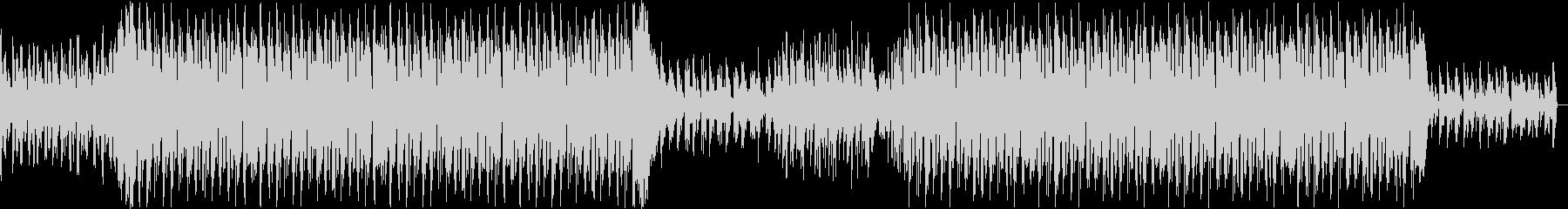 淡々とした冷たい印象のテクノ・ハウス楽曲の未再生の波形