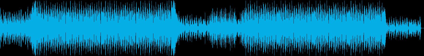 淡々とした冷たい印象のテクノ・ハウス楽曲の再生済みの波形