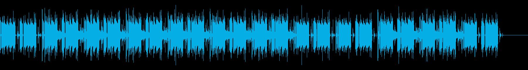 ひっそりとした雰囲気のあるメロディーの再生済みの波形