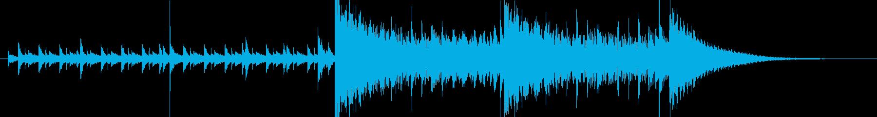 15秒・緊張感・クール・高速ジャズの再生済みの波形