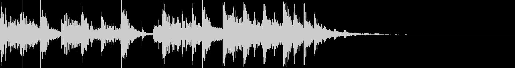 フューチャーファンクなジングルの未再生の波形