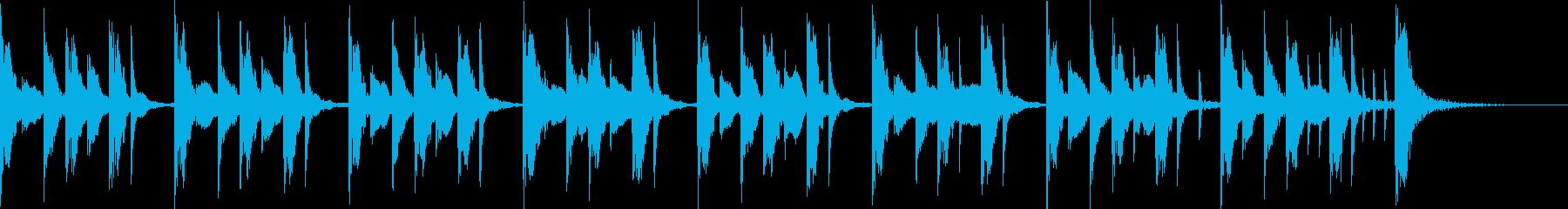 十五秒の考える時間のジングルの再生済みの波形