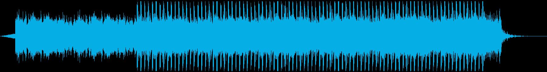 アップビート動機付け音楽(短)の再生済みの波形