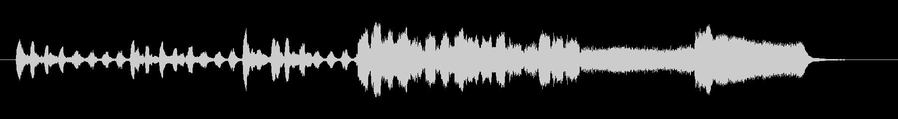 生演奏リコーダーでシンキングタイムの未再生の波形