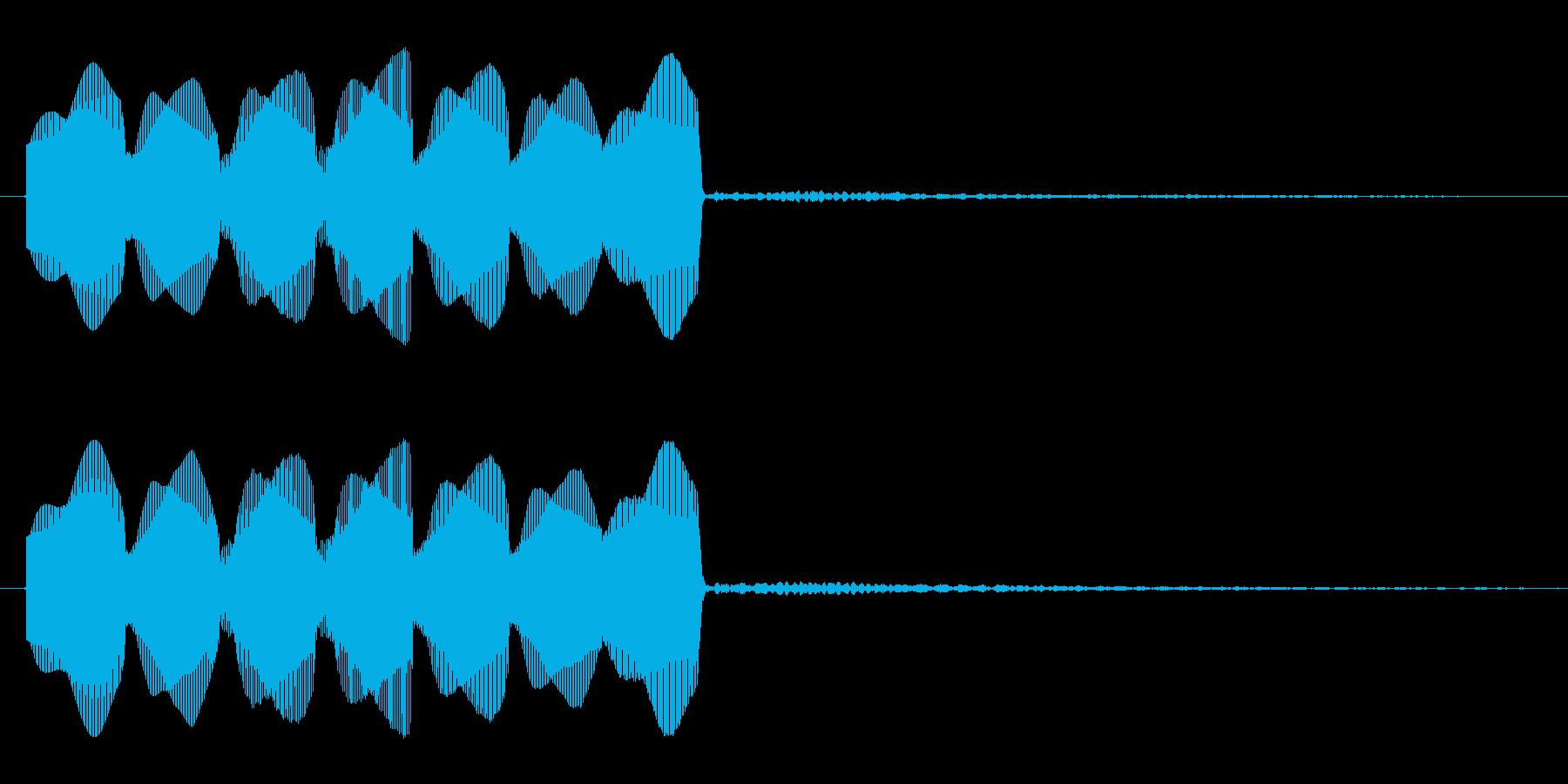 プラスの出来事が起きた時の音です。の再生済みの波形