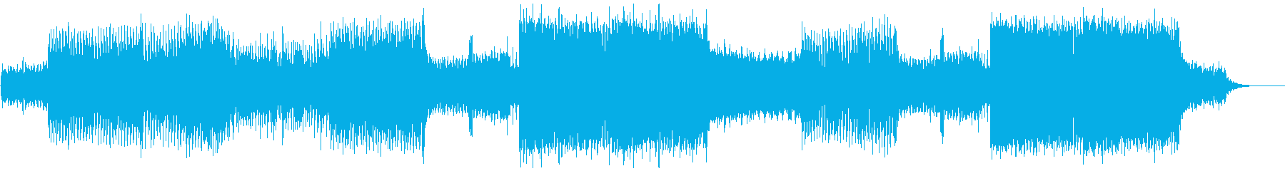 NCS風 突き抜ける疾走感のEDMの再生済みの波形