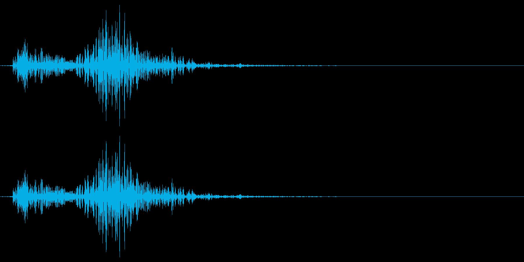 「カチ」「カチャ」など少し固めのイメー…の再生済みの波形