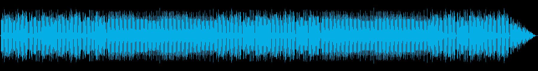 ファミコン風な明るめのループBGMの再生済みの波形
