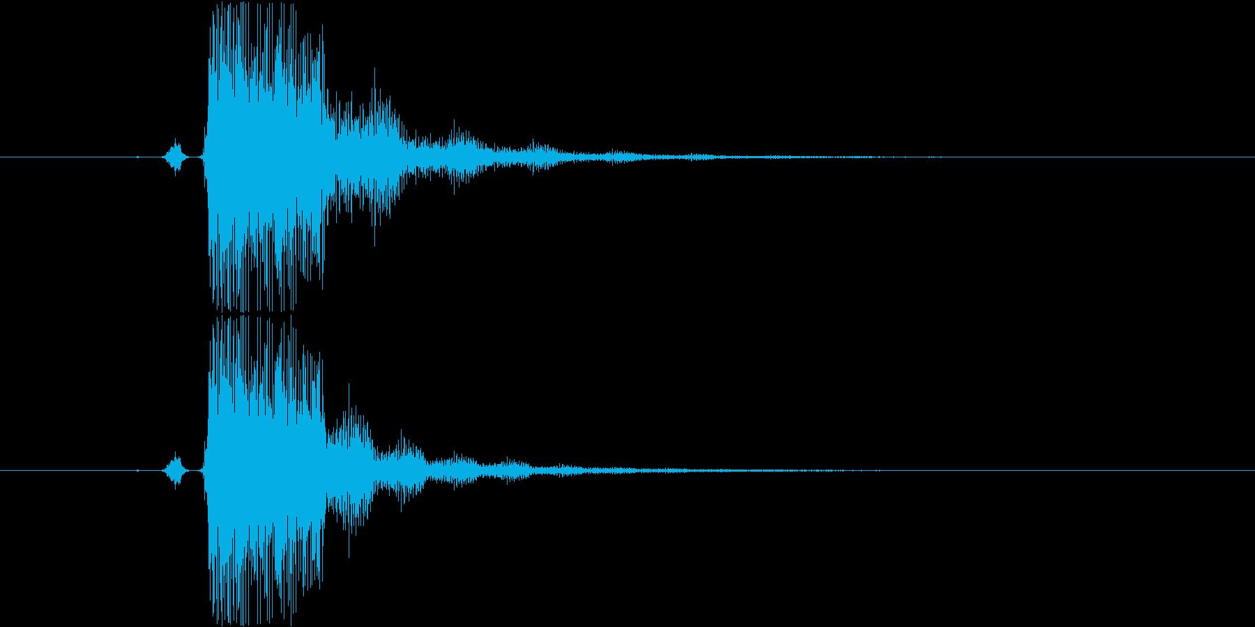 SF系の「スタート」という声の再生済みの波形