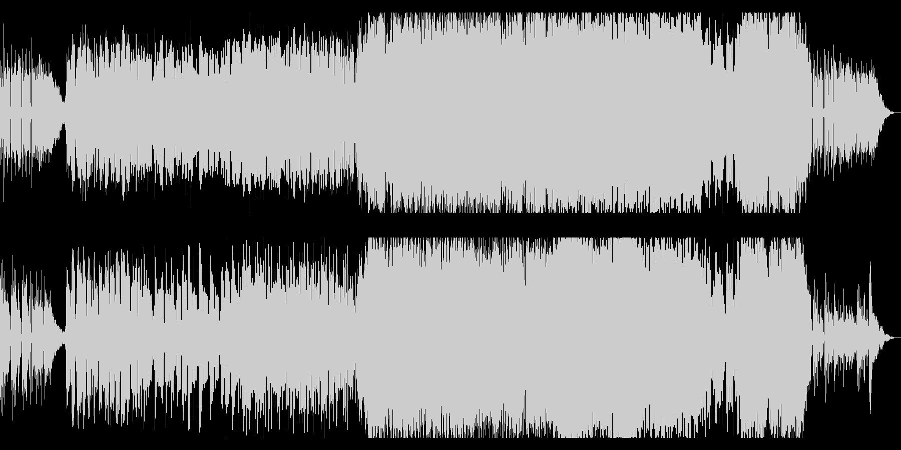 やさしいサウンドと歌声のアコースティックの未再生の波形