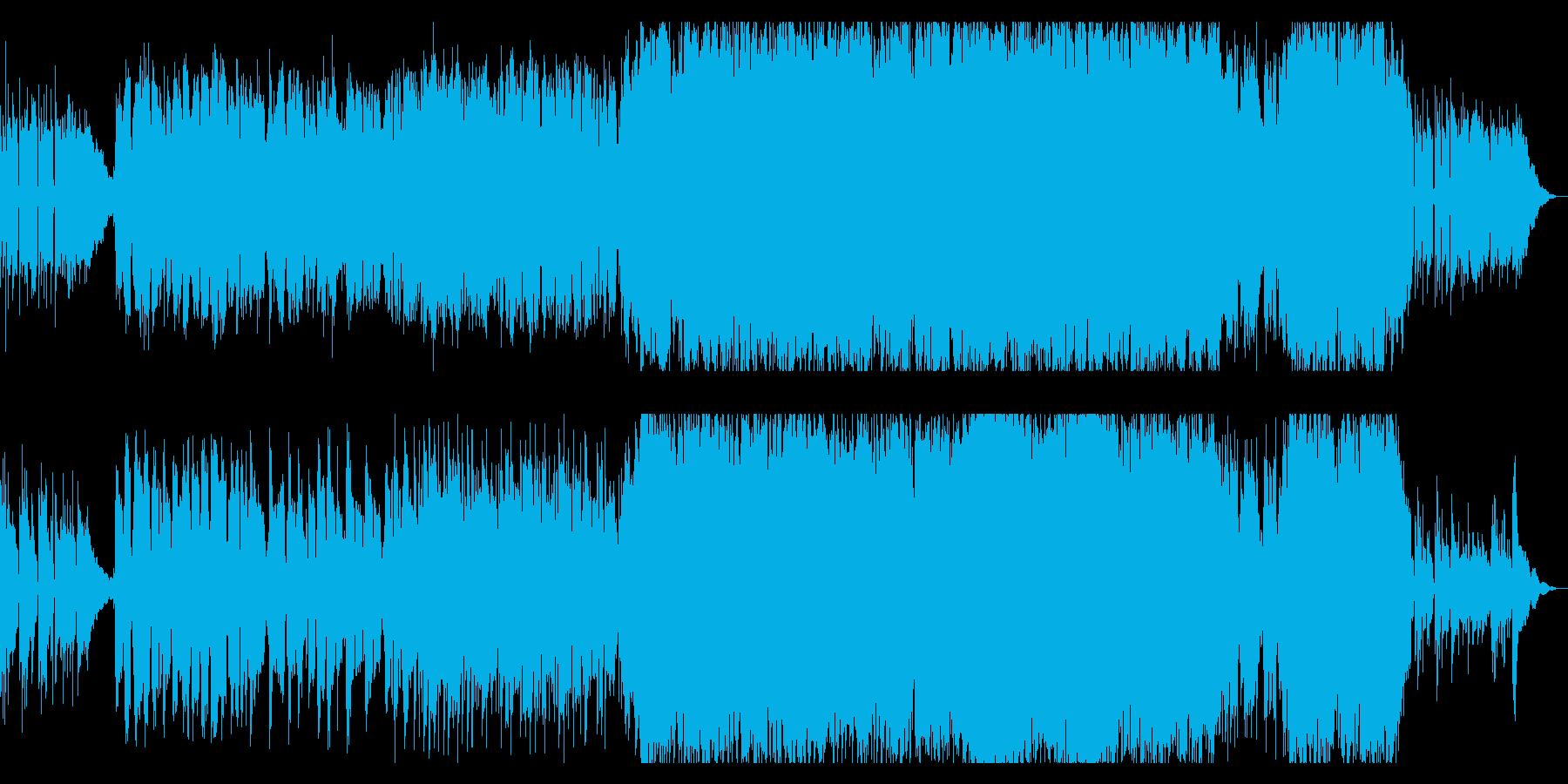 やさしいサウンドと歌声のアコースティックの再生済みの波形